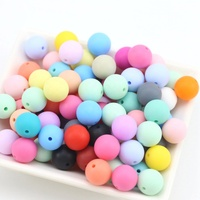 Wholesale 15mm Soft Round Silicone Beads For Teething Chew Baby Necklace Beads Jewelry BPA Free