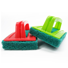 Small Household Non-Scratch Cleaning Scrub <strong>Brush</strong> with Scrubbing Pad Handle