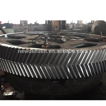 Densen customized Casting Carbon Steel heavy duty Gear for Crusher,casting gears for heavy machines,rotating gear ring