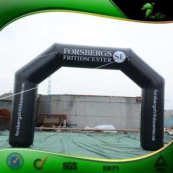 6x4m Black Advertising Arch Inflatables Custom Inflatable Race Arch Start Arch For Sale