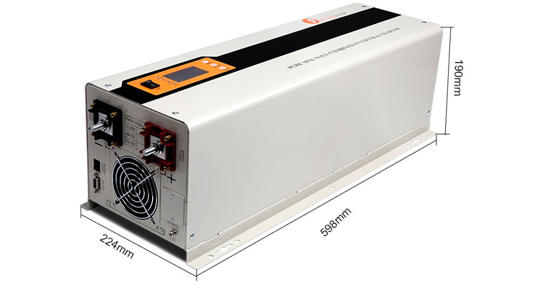 Solar charge protect 3kw solar panel inverter