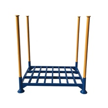 Customized stackable stacking rack post pallet rack steel stillages storage