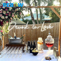 Drunk in love wedding birthday party decoration Custom Neon Sign Letters Advertising Acrylic LED Neon Signs