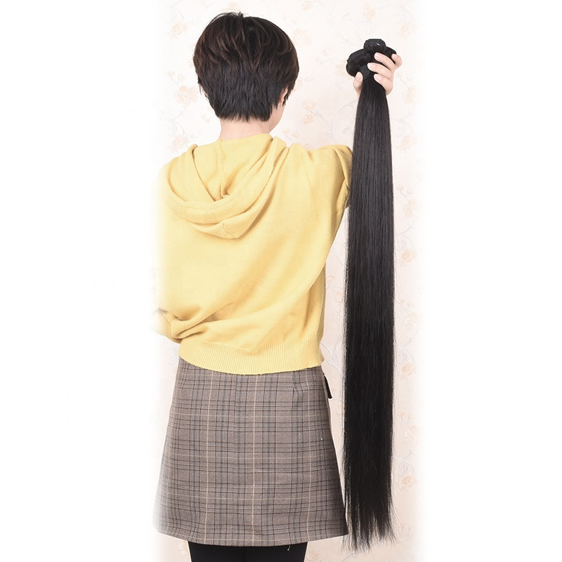 Hot new retail products unprocessed virgin brazilian 34 inch straight hair weave