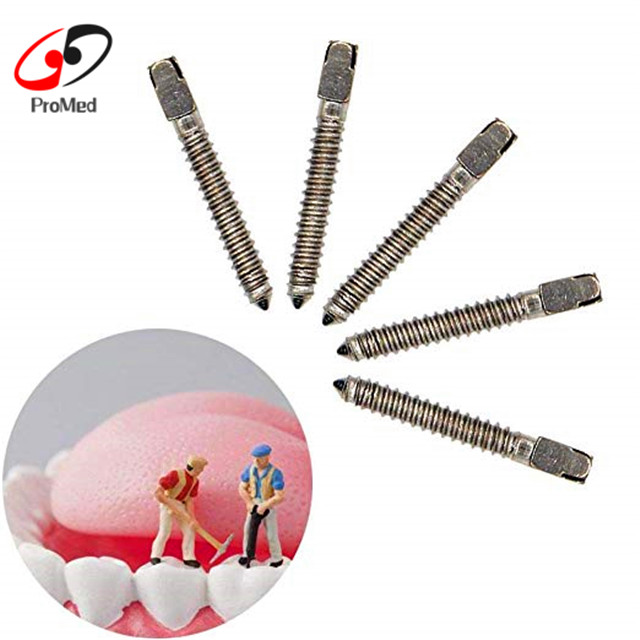 Dental Material Stainless Steel Screw Post Dental Metal Post