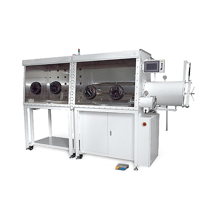 Double-Station Single-Sided Laboratory Vacuum Glove Box for Semiconductor, Super Capacitor