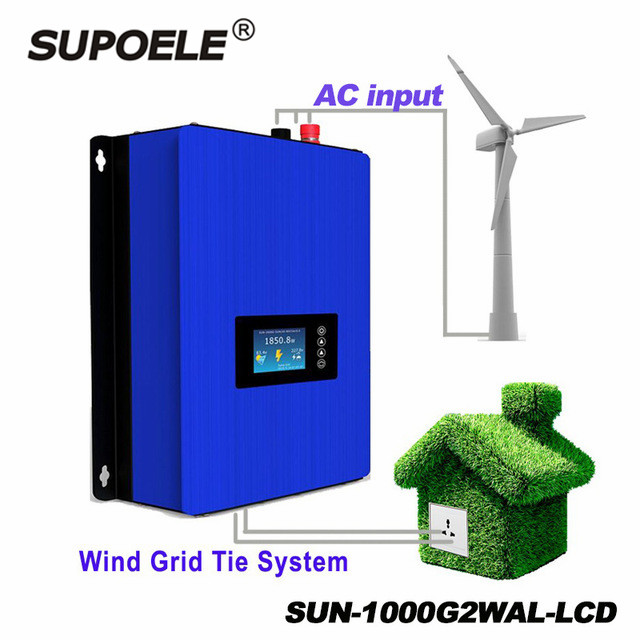 LCD display <strong>Wind</strong> Grid Tie Inverter 1000W With Dump Load Resistor With Limiter With Wifi For 48V AC <strong>Wind</strong> <strong>Turbines</strong>