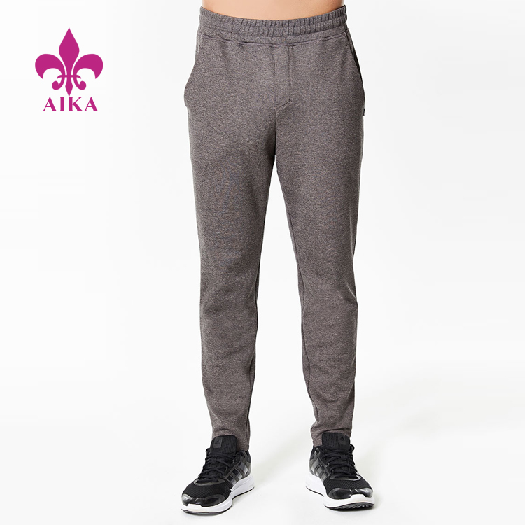 Wholesale Custom Basic Causal Style Solid Keep Warm Men Sports Tapered Jogger Pants