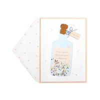 2019 Best Seller Happy Birthday Handmade Party Bottle Cards, Custom Printing Paper Greeting Cards with Envelopes