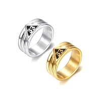 316l stainless steel gold rounded 33rd degree masonic rings classic freemason masonic signet rings for men women