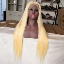 613 Blonde Transparent Lace Front Wigs 100% Unprocessed Virgin Brazilian Straight Human Hair 13x4 Lace Frontal Wig Pre Plucked