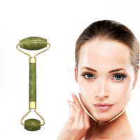 Derma Roll Pink Natural Facial Green Jade Roller Stone for face set massager