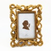 Gold 4x6'' Poly Resin Photo Frame