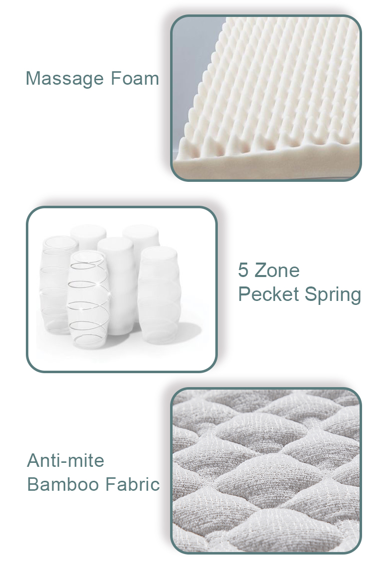 memory foam mattress no-spring cool gel with washable&removable 3d breathable fabric - Jozy Mattress | Jozy.net