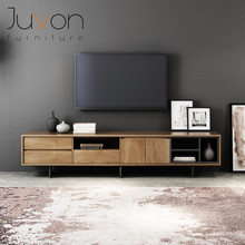 European style home <strong>furniture</strong> tempered glass top stainless steel with DMF wooden cabinet TV stand