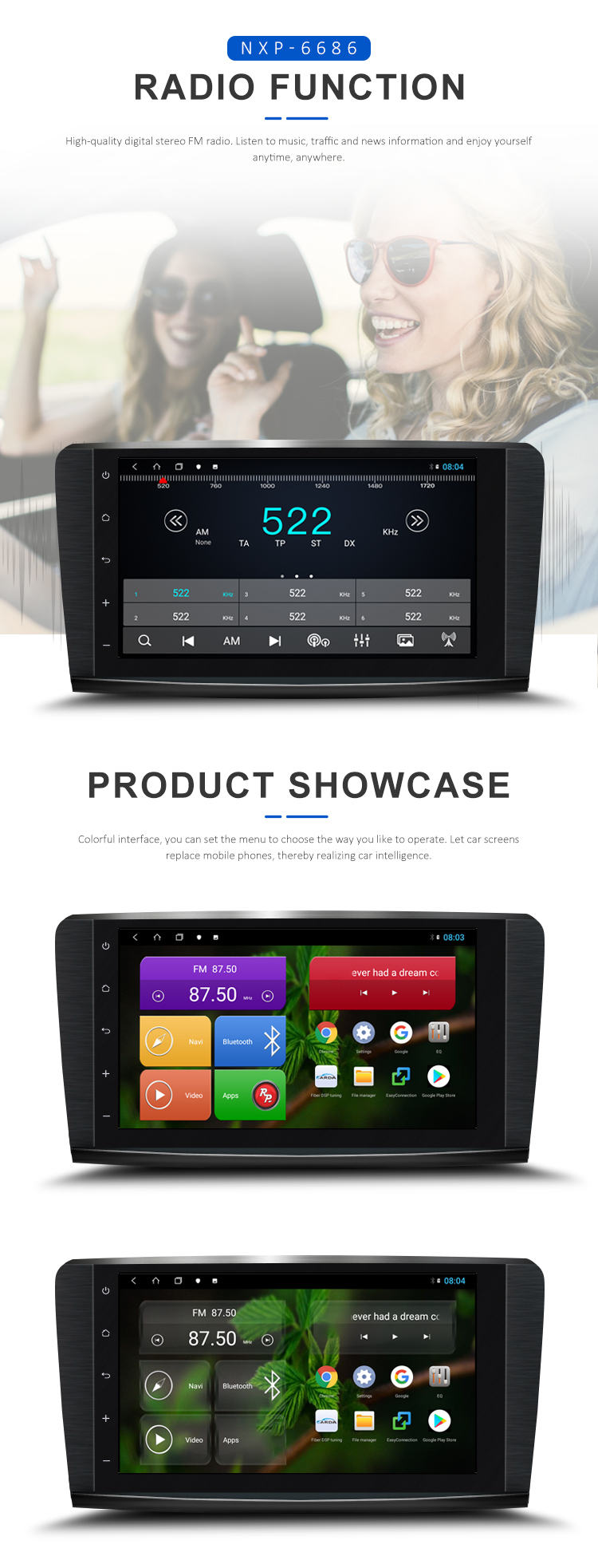 Android 8.1Octa Core 4GB RAM+64GB ROM  Car DVD GPS for Mercedes-Benz ML/GL  (2005-2012) With CarPlay/DSP/Wi-FI/4G