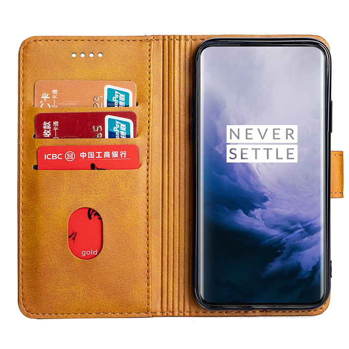 for OnePlus 7 Pro 5G leather cell phone protective case
