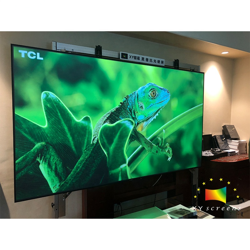 XY Screen <strong>110</strong>&quot; 16:9 Narrow border anti-light 4K vava xiaomi mijia 4K laser UST ALR projector projection screen for Home theatre