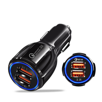 Fast Charging Universal 5.0V 3.1A Dual Usb Car Charger QC3.0 Usb Phone Charger