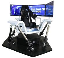 3 Screen Driving Car <strong>Games</strong> With Electric Dynamic Platform Motion System Racing Simulator For Entertainment
