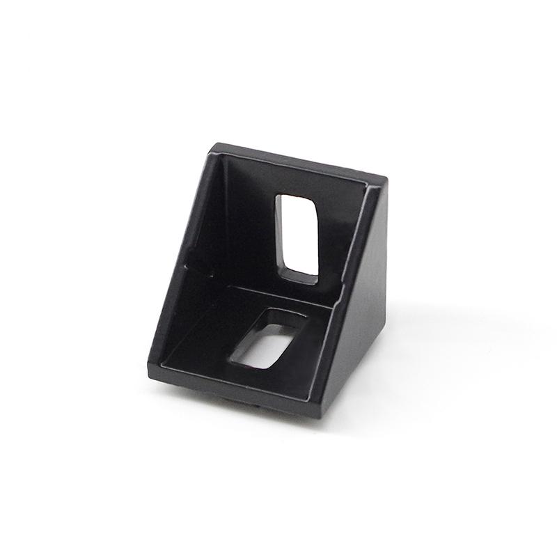 4040e-8 casting aluminium bracket   for aluminum profile in black silver white and grey 4040