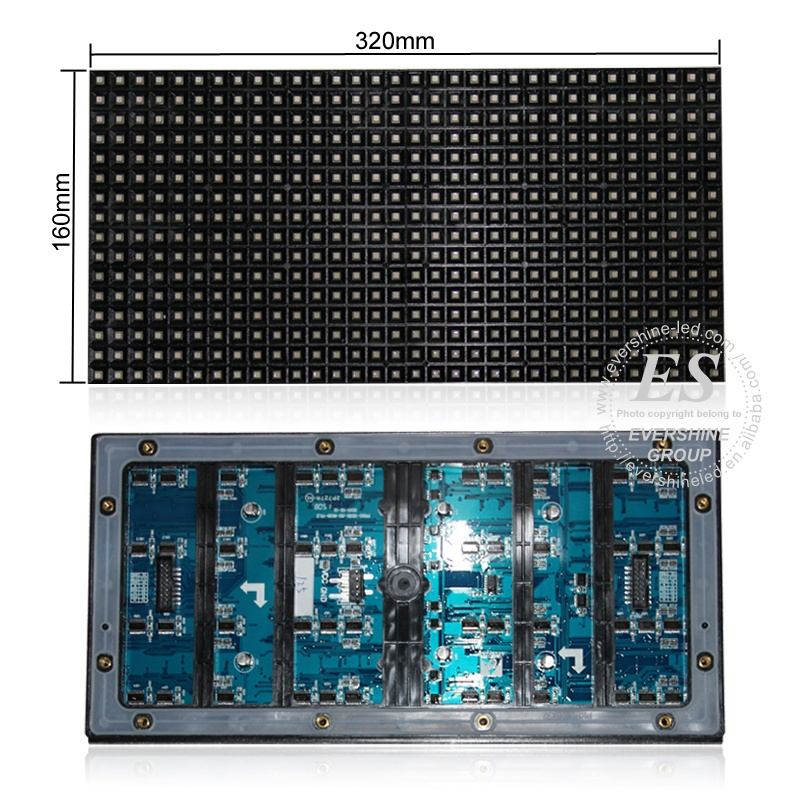 <strong>P10</strong> HUB12 <strong>1W</strong> 320*160 Text Panel <strong>Module</strong> White Single Color <strong>Led</strong> Display Message Board Outdoor <strong>Led</strong> <strong>Module</strong>