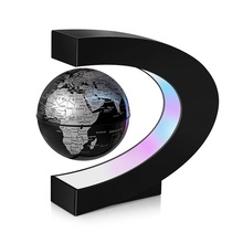 World globe magnetic levitation floating globe lamp decorative led light gift creative table lamp ball floating globe light