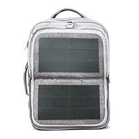 Hanergy solar mobile charger backpack solar panel anti theft laptop backpack bag