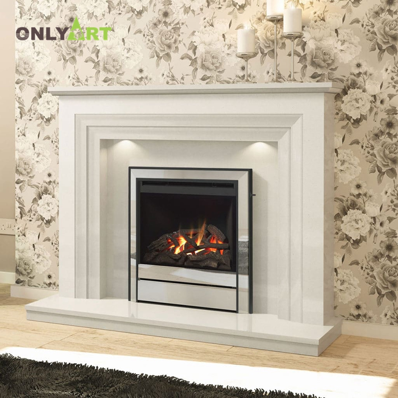 Simple Design  Marble Fireplace Mantels