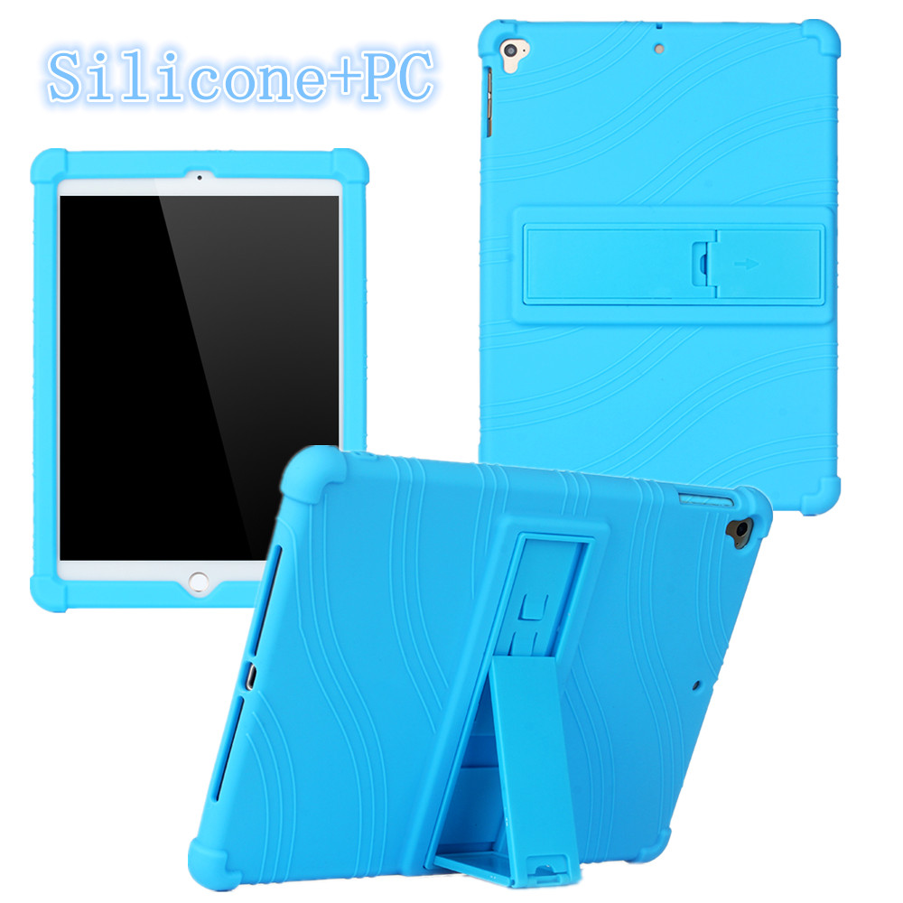 For Apple <strong>Ipad</strong> 5 6 Air 1 2 2017 2018 9.7inch children kids Silicone Case Anti-Fal stand Shell Bracket Shockproof Soft Cover