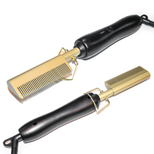 450F High Heat Ceramic Press Comb Hair Straightener Pressing Electric Hot Comb
