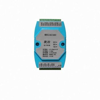 4AI/4AO 0-20MA/4-20MA/0-5V 4 Road Analog Input Output Acquisition Module RS485 MODBUS 12 bit Industrial grade AD/DA chip