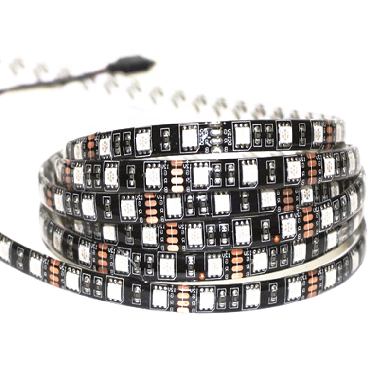 Wholesale 12V LED <strong>RGB</strong> 5050 Black PCB Flexible Waterproof Led Light Strip