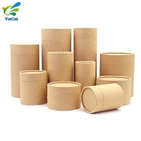 Customized Craft Paper Packaging Box Cylinder Round Containers For Food Packaging