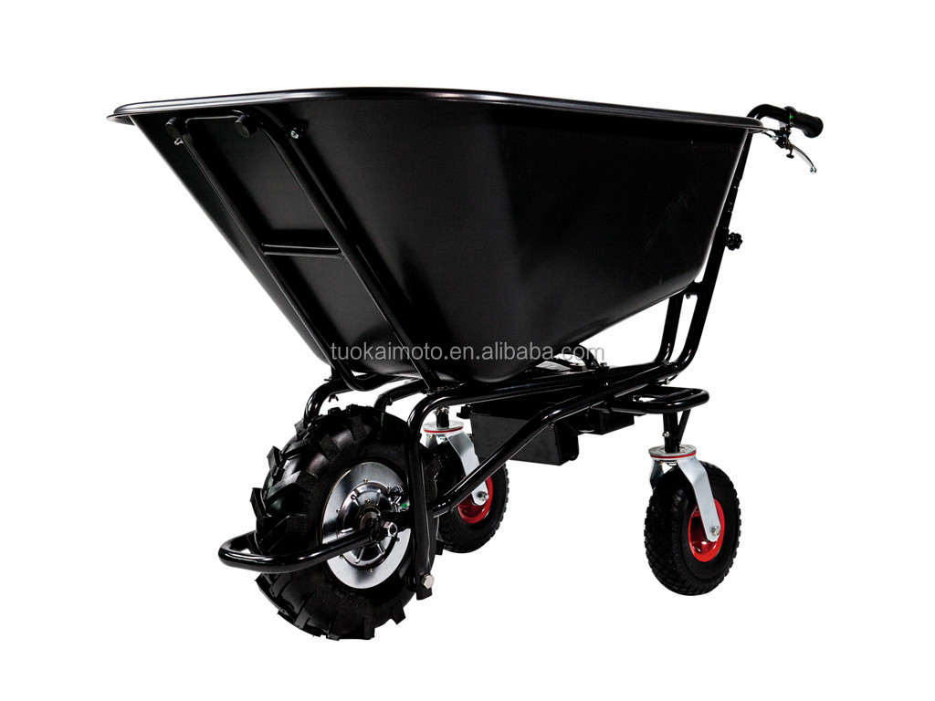 160L PSE certificate wheel barrow 350W dump truck electric trolley rubbish cart Quadrocycle (TKS-HT160E4)