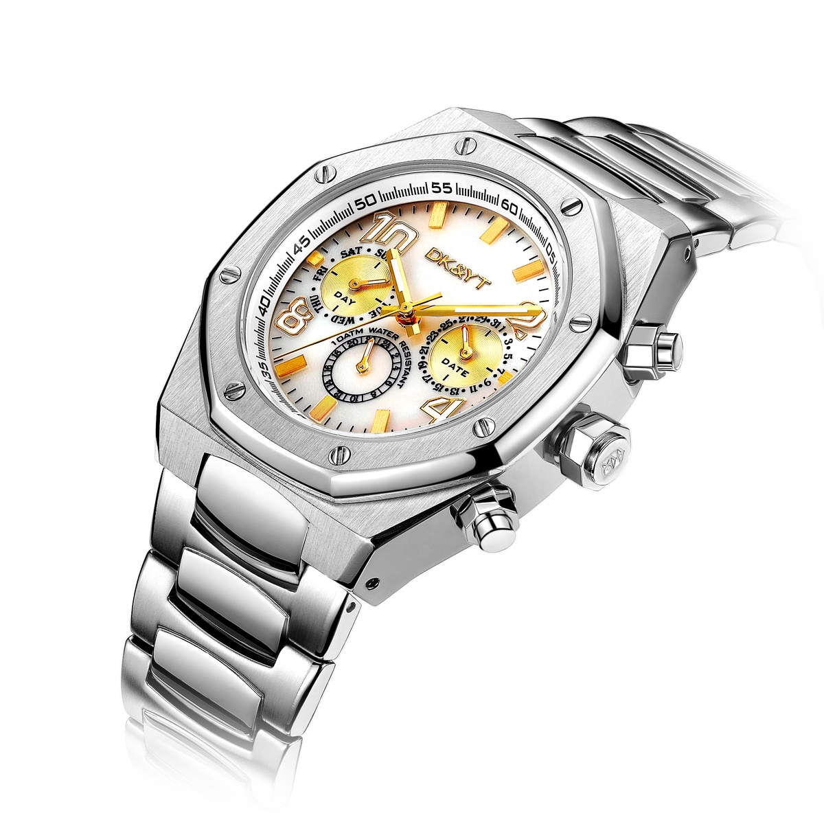 High Quality Customized Classic Multifunction <strong>Men</strong> Steel Wristwatch Collection Luxury Male Gold Watch