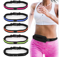 Running Belt Waist Pack Fanny Pack with 2 Expandable Pockets, Sweatproof Rainproof Mobile Phone Pouch Bag