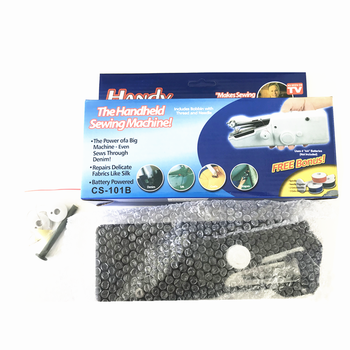 Home Use Black Mini Portable Handheld Electrical Sewing Machine