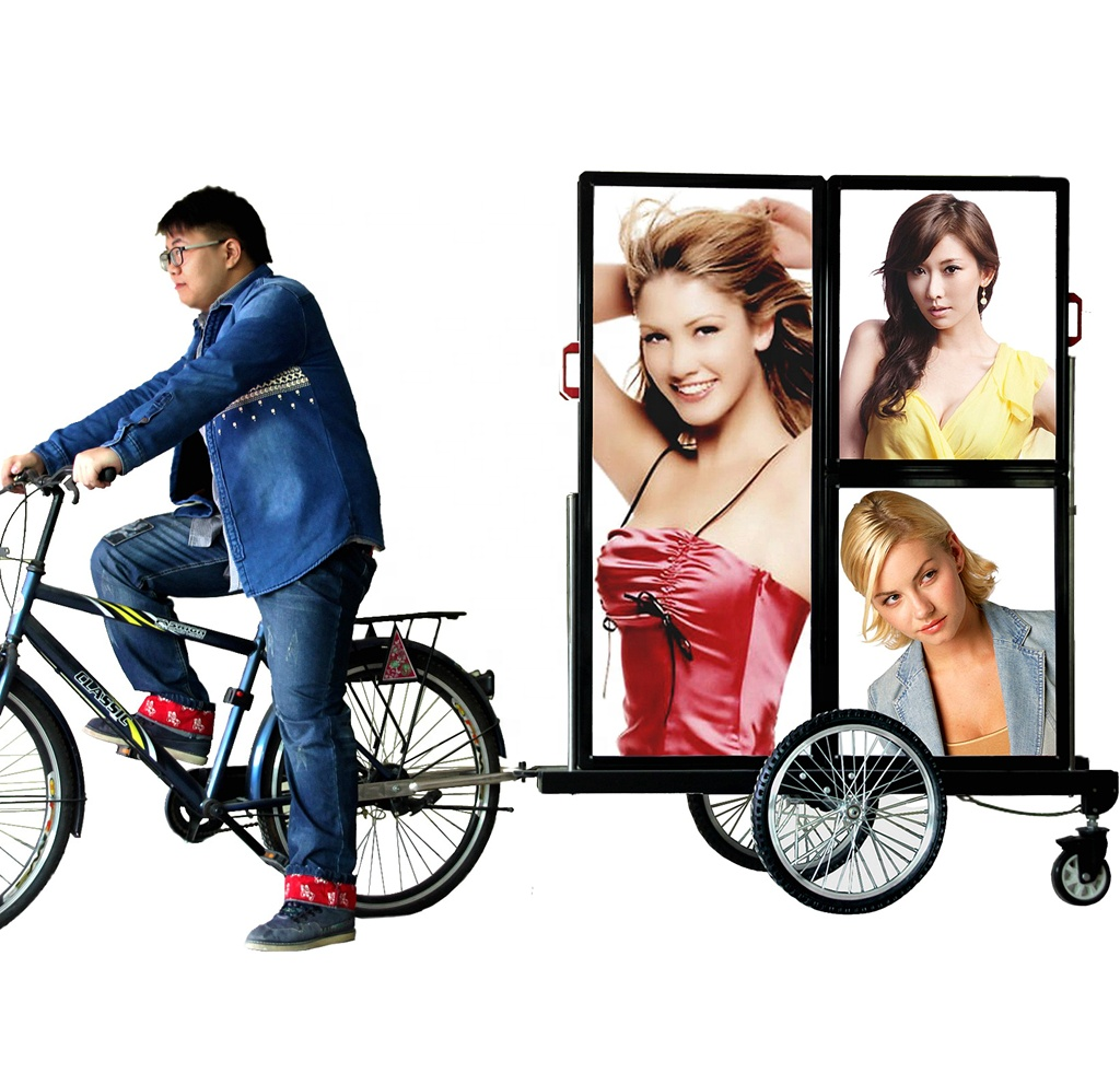 J9C-0 USA popular two faces durable aluminum frame bicycle trailer <strong>advertising</strong>