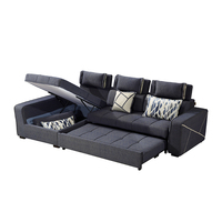Simple Double Sofa Bed Sectionals & Loveseats Fabric Sofa Bed L Shaped Folding Corner Sofa Bed With Storage