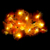 Fiber Optic Flare Petal String Lights,Dual Color Warm And Cool White