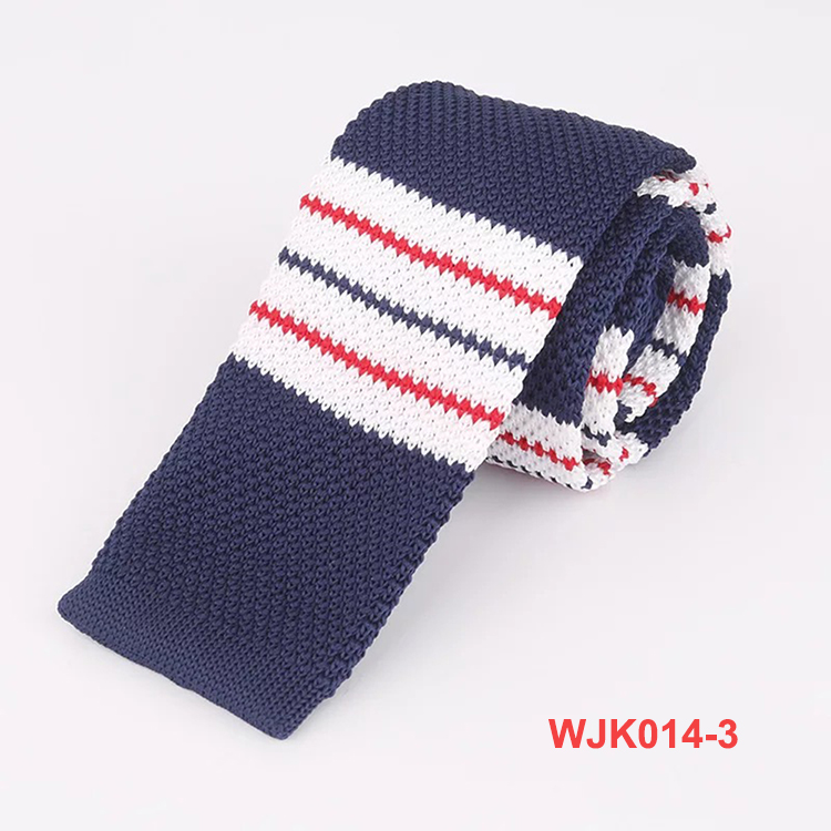No MOQ Various New Patterns Polyester Striped Knitted Ties for Men
