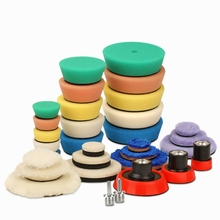 Detail Polishing Pad for Drill &amp;polisher Buffing Buffer Kit + Backing <strong>Plate</strong> &amp; Adapters 32pack