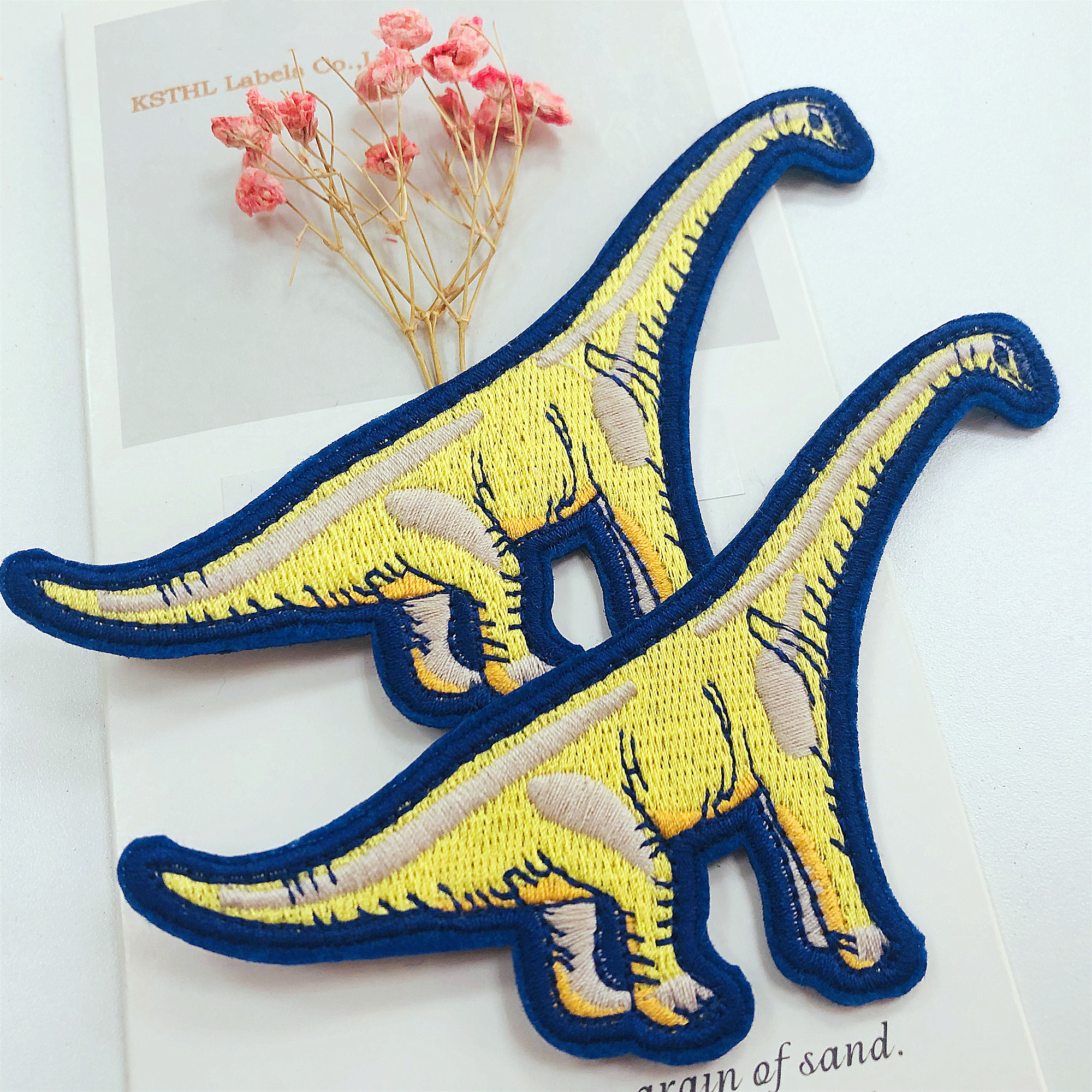 KSTHL High Quality Custom Woven Embroidered Patch Wholesale for clothing