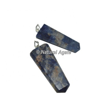 Sodalite Pendants | Flat Pencil Pendants | Gemstone Pendants