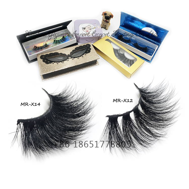 High Quality 25mm Mink Eyelash False Eyelashes Private Label 4D 6D 5D Mink Eyelashes