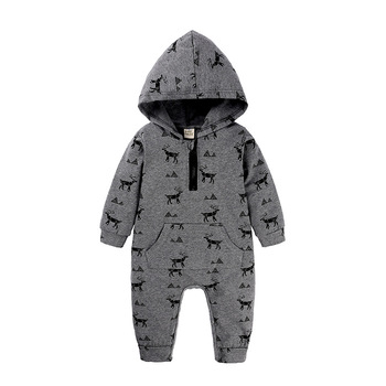 2019 Autumn Baby Rompers Infant Clothes Hooded Camo Jumpsuits for Baby Boys Toddler Clothes Jumpsuit