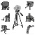 New 3 section aluminum best camera portable tripod photographic monopod tripod