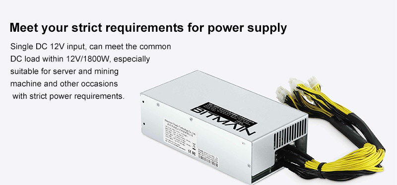 Antminer Bitmain  APW7  PSU 1800W Power Supply for  miner
