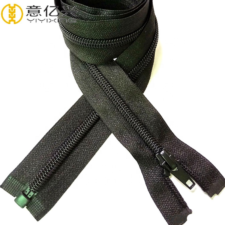 Hot Selling Custom Semi Auto Lock Nylon Zipper With Sliders For <strong>Shoes</strong>